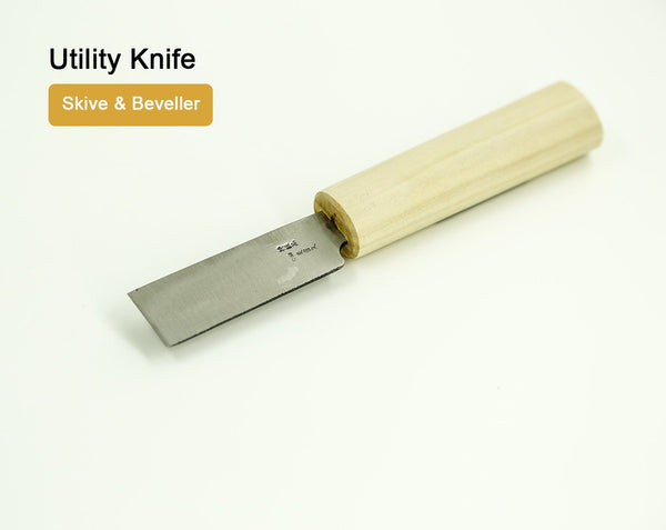 Utility Knife Skive & Beveller Leather LeatherMob Kyoshin Elle Japanese Leathercraft Craft Tool