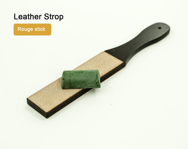 Leather Strop with Rouge Stick Knife Sharpener Leather Blade Leathercraft Craft Tool