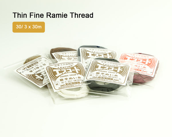 Leather Working Tools Thin Fine Ramie Thread 30m 3 Ply Twisted Sewing Japan Leathercraft Leather Craft Tool Cords - LeatherMob