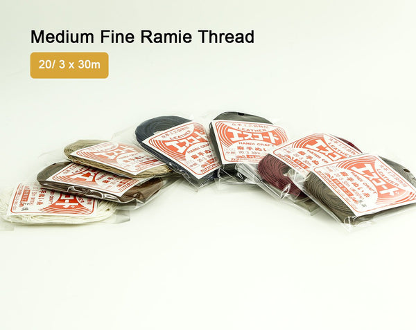 Medium Fine Ramie Thread 30m 3 Ply Twisted Sewing Japan Leathercraft Leather Craft Tool Cords