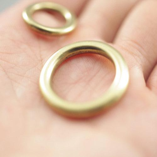 2pcs of Solid Brass O-Ring Seiwa Hardware LeatherMob Leathercraft Leather