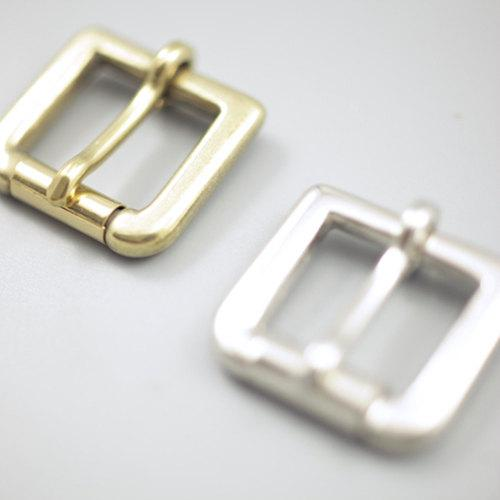 20mm Solid Brass Strap Buckles Nickel Finish Belt Seiwa Japan LeatherMob Leathercraft Leather