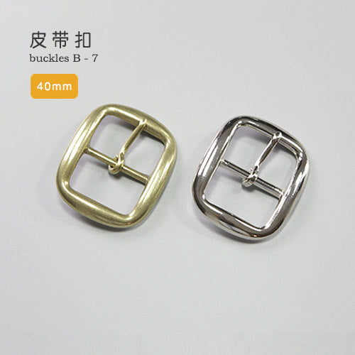 Leather Working Tools 40mm Solid Brass Strap Buckles Nickel Finish Belt Seiwa Japan LeatherMob Leathercraft Leather - LeatherMob