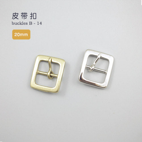 Leather Working Tools 20mm Solid Brass Strap Buckles Nickel Finish Belt Seiwa Japan LeatherMob Leathercraft Leather - LeatherMob