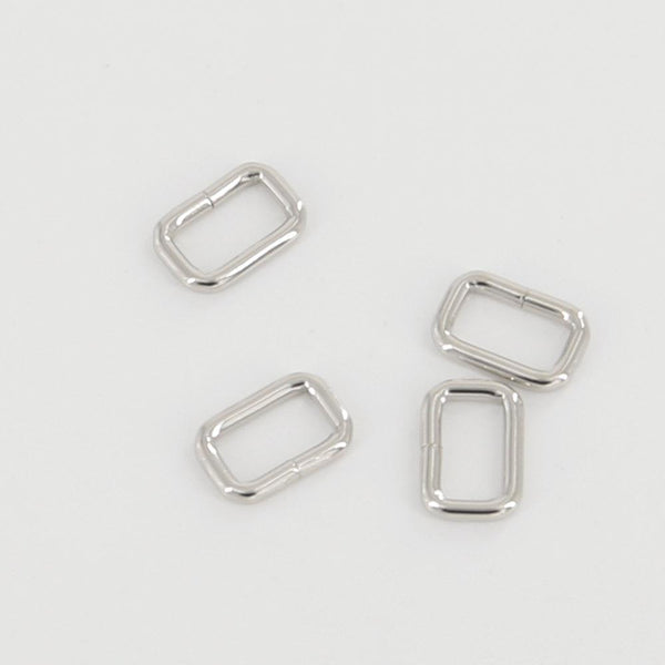 15mm Rectangular Wire Loops Rings Purse Handbag Hardware LeatherMob Leathercraft Leather