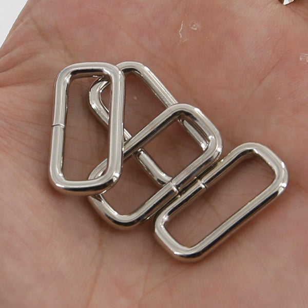 21mm Rectangular Wire Loops Rings Purse Handbag Hardware LeatherMob Leathercraft Leather