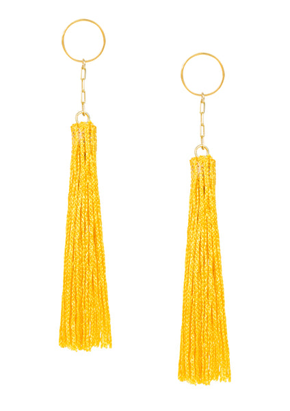 Amun fringe earrings Gold