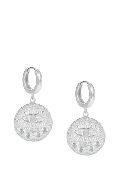 Kressida slip on earrings - Sterling Silver - Different colors