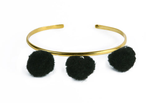 Anna Cuff - Black (Gold or Silver)