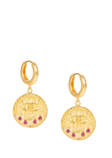 Kressida slip on earrings - Gold Plated - Different colors