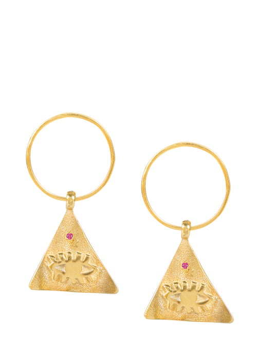Kressida small Pyramis Earrings
