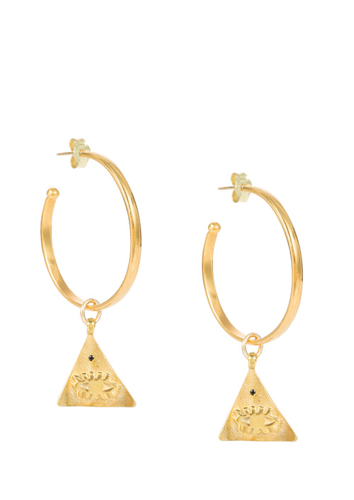 Kressida small Pyramis hoop earrings