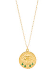 14k gold - Kressida Small Medallion