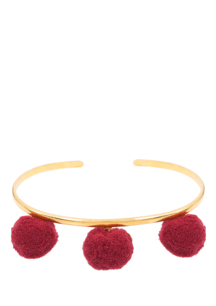 Anna Cuff - Burgundy (Gold or Silver)