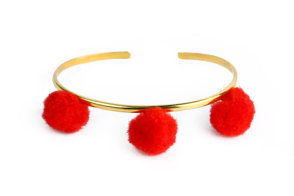Anna Cuff - Red (Gold or Silver)