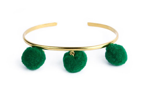 Anna Cuff- Emerald (Gold or Silver)