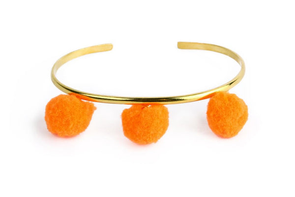 Anna Cuff- Neon Orange (Gold or Silver)