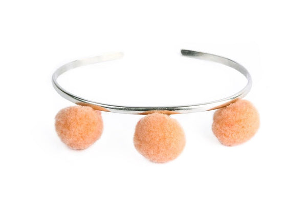 Anna Cuff- Light Peach (Gold or Silver)