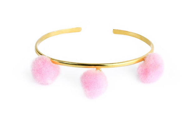 Anna Cuff- Light Pink (Gold or Silver)