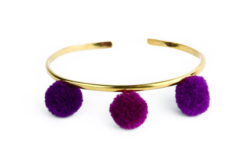 Anna Cuff- Purple (Gold or Silver)
