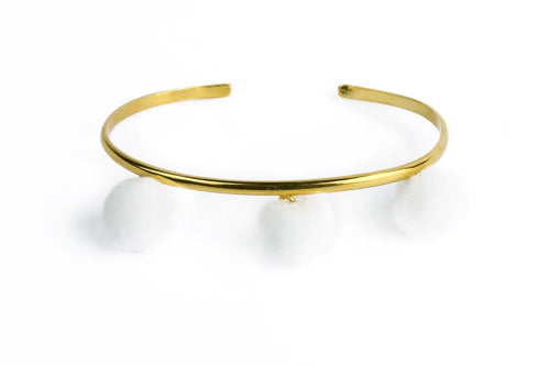 Anna Cuff- White (Gold or Silver)