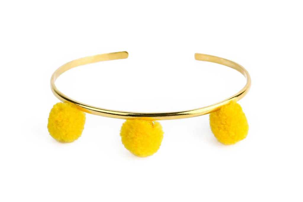 Anna Cuff- Lemonade Yellow (Gold or Silver)