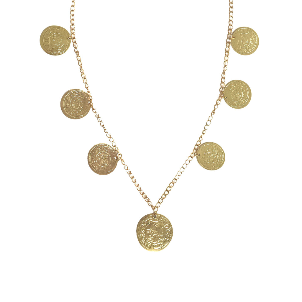 Single Sahara Necklace in Gold