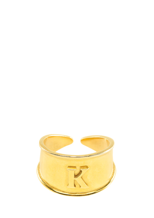 Greek Monogram ring- Gold Plated