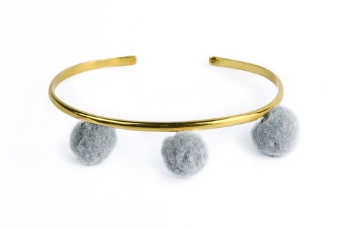 Anna Cuff - Grey (Gold or Silver)