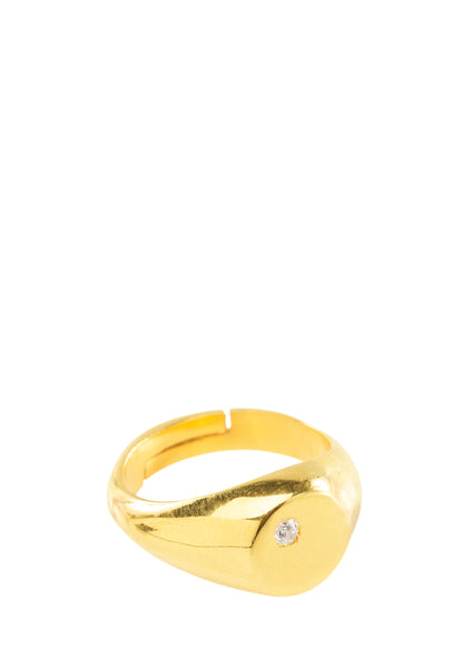 Delian Oval Ring with Different stones (Silver or Gold)