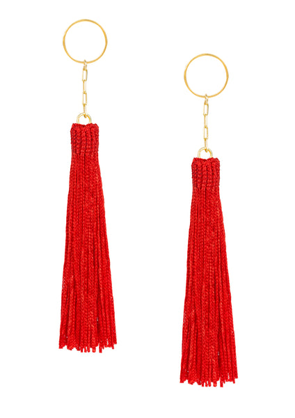 Amun fringe earrings Red