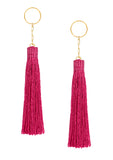 Amun fringe earrings Fuchsia