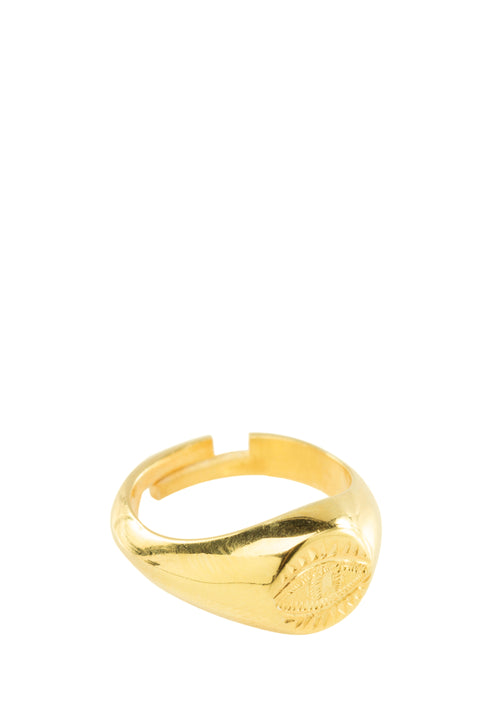 Hermina Eye Ring Silver or Gold Plated