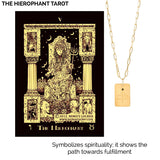 Tarot earrings The Wheel of Fortune