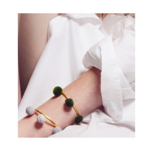 Anna Cuff - Olive (Gold or Silver)