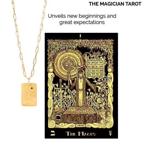 14k gold - Tarot The Magician