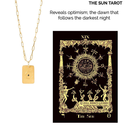 14k gold - Tarot The Sun
