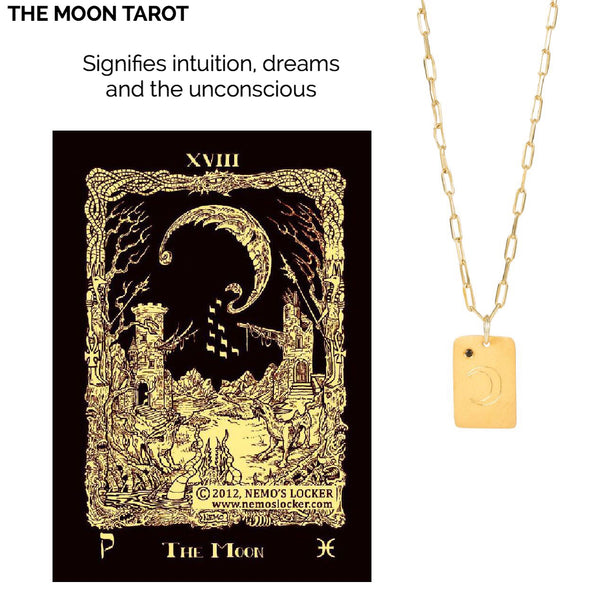Tarot earrings The Moon