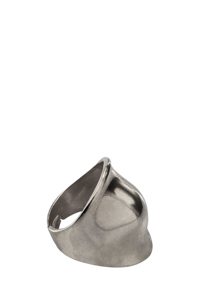 Shield Ring - Silver, Gold or Black
