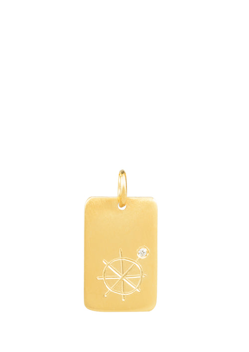 14k gold - Tarot The Wheel of Fortune