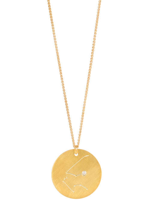 14k gold - Aquarius Zodiac Constellation
