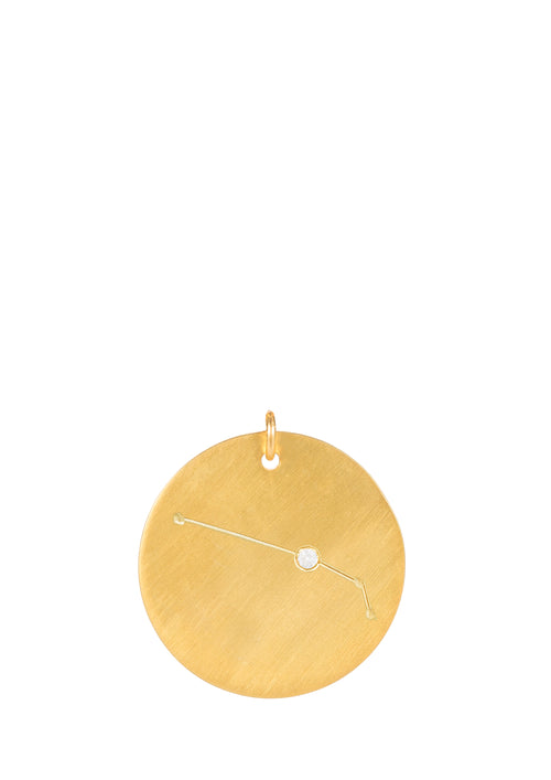 14k gold - Aries Zodiac Constellation