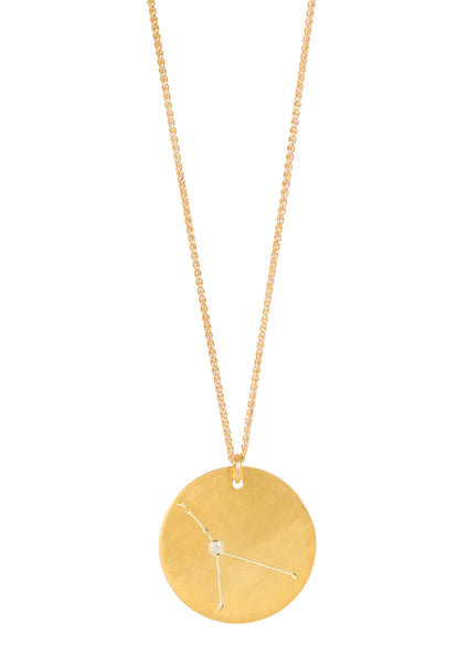 14k gold - Cancer Zodiac Constellation