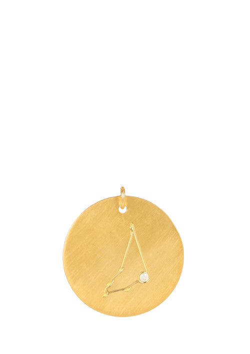 14k gold - Capricorn Zodiac Constellation