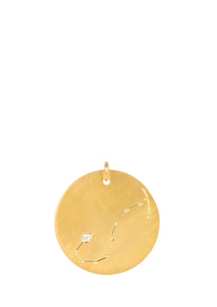 14k gold - Scorpio Zodiac Constellation