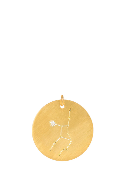 14k gold - Virgo Zodiac Constellation