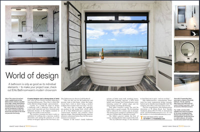 LATEST TREND ARTICLE FEATURING ELITE BATHROOMWARE