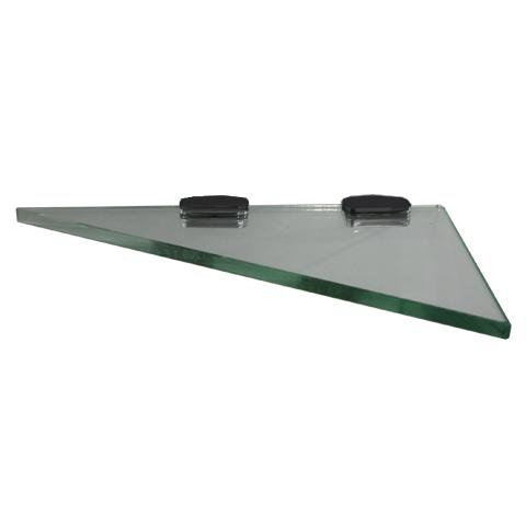 10MM GLASS SHELVES - 4 STYLES BLACK BRACKETS