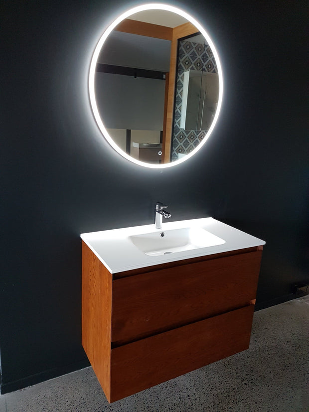 LED MIRROR WITH DEMISTER