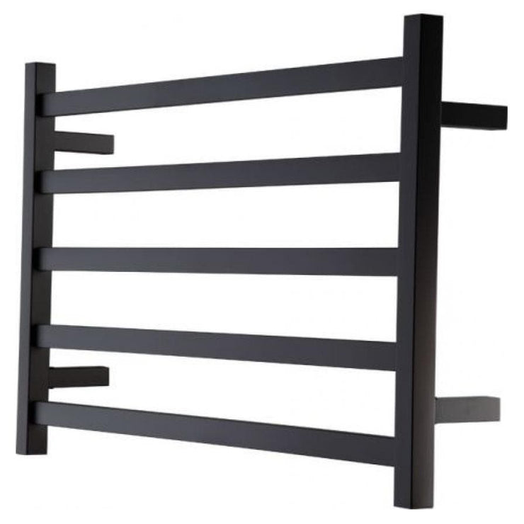 HEIRLOOM STUDIO 1 NOIR HEATED TOWEL LADDER 510X850MM BLACK
